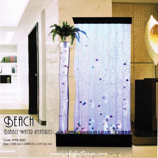 Beach Bubble Water Features Decorative Display Partition