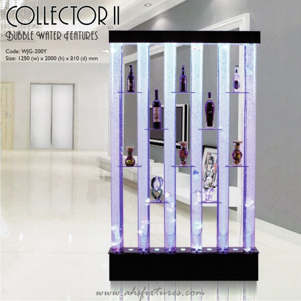 Collector II Shelves Bubble Water Features Decorative Display Partition