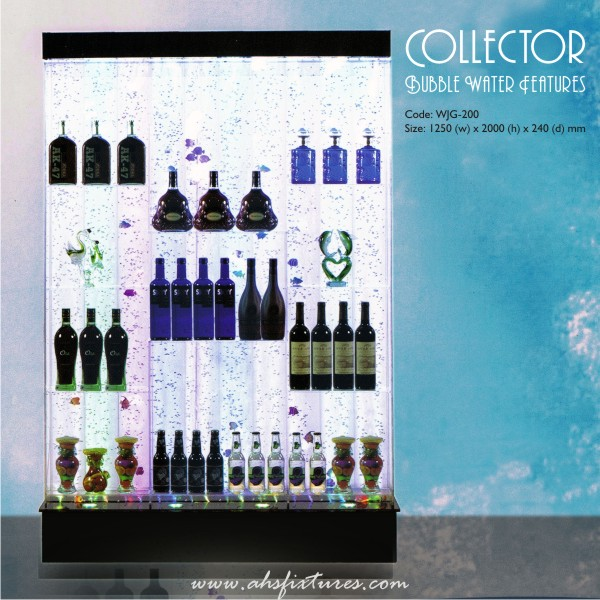 Collector Shelves Bubble Water Features Decorative Display