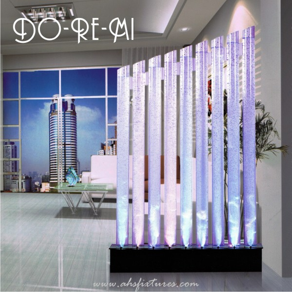 Do-Re-Mi Acrylic Tube Bubble Water Features Decorative Aquarium Display Partition