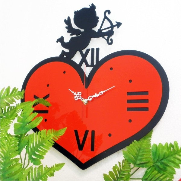 Designer Wall Clock-Love Angle Wall Clock