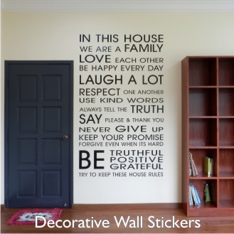 Decorative Wall Stickers Custom Made In Malaysia